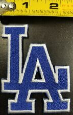 """LOS ANGELES DODGERS """"L.A."""" 3 inch IRON/SEW ON PATCH~FREE SHIPPING FROM THE U.S.~"""