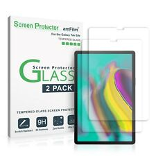 (2 Pack) amFilm Real Tempered Glass Screen Protector for Samsung Galaxy Tab S5e