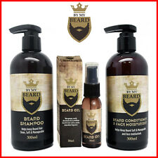 Beard Care Kit Grooming Wash Shampoo Conditioner Face Mustache Oil Gift for Mens