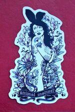 "Sticker Aufkleber ""Tattoo Girl"" Matt-Optik Stickerbomb Skateboard Laptop"
