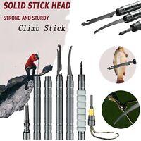Multifunctional Outdoor Trekking Climb Walking Stick Protector Crutch Alpens #SN