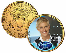 ELLEN DeGENERES ** American Idol 2009 ** JFK Half Dollar 24K Gold Plated US Coin