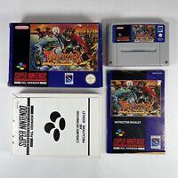 Super Nintendo SNES Game Equinox Boxed Manual Cartridge Complete PAL UK