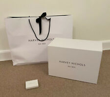 Harvey Nichols White Large Storage Gift Box Hamper Present + Bag + Gift Card Box