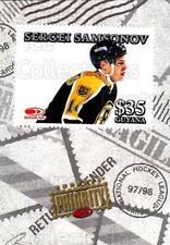 1997-98 Donruss Priority Stamps #17 Sergei Samsonov