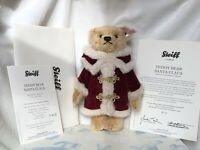 Steiff Teddy Bear Santa Claus EAN 036163, Fr 2009, Retired