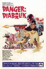 DANGER: DIABOLIK Movie POSTER 27x40 C John Phillip Law Marisa Mell Michel