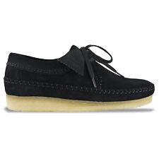 Clarks Originals Weaver Shoes Black Suede Uk10