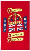 The Queen's Diamond Jubilee Logo Cotton Tea Towel