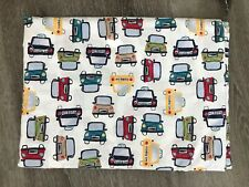 POTTERY BARN KIDS TAXI'S AND CARS TWIN FLAT SHEET