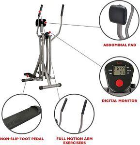 Sunny Health & Fitness Unisex's Air Walk Trainer w/LCD Monitor SF-E902 Elliptica