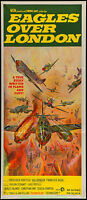 EAGLES OVER LONDON MOVIE POSTER Australian Daybill Size 13x30 WWII Film 1969