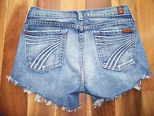 7 for all mankind Denim Cut Off Shorts, Dojo, size 25