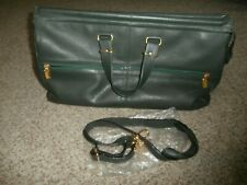 NWOT LEVENGER Green Leather Carry-On Duffle Bag Overnight