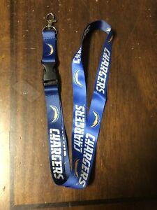 Football Los Angeles Chargers Lanyard ID Badge Holder Breakaway Clip Keychain