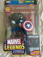 Ultimate Captain America w/ Trading Card & Display Marvel Legends Series VIII 8