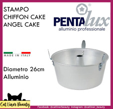 Stampo Ruoto CHIFFON CAKE con piedi 26cm MADE IN ITALY dolce teglia dolci angel