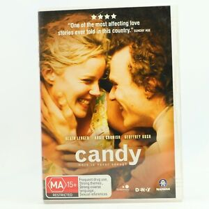 Candy Heath Ledger Abbie Cornish Geoffrey Rush DVD R4 GC Free Tracked Post