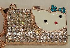 with Necklace - New Betsey Johnson Kitty Purse Pendant