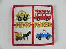 New York Taxi Police Rubber Rubber Magnet USA America Souvenir