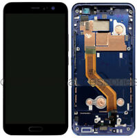 """FIT For SPRINT HTC U11 2PZC5 5.5"""" LCD Display Touch Screen Digitizer +Blue Frame"""