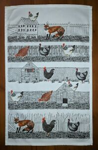 Hen Run cotton tea towel by Emma Bridgewater.