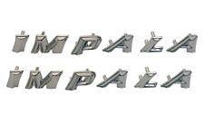 1959 59 Chevy Impala Quarter Emblem Letters IMPALA Pair Set