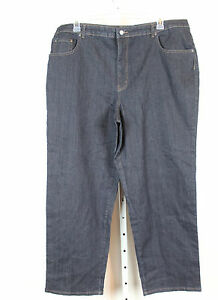 Kim Rogers Womens Easy Fit 5 Pocket Stretch Fit RINSE Wash Blue Jeans 22W H