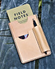 Handmade Cover NOTO Wallet Field Notes Sleeve Leather Natural