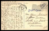 MISSISSIPPI CAMP SHELBY POST OFFICE LAST DAY MAY 24 1942 FREE FRANKED POSTCARD T