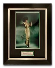 CONNIE FRANCIS HAND SIGNED FRAMED PHOTO DISPLAY 1.