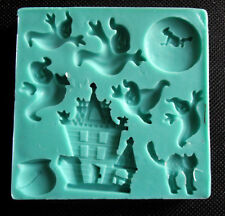 Silicone Mould HALLOWEEN HAUNTED HOUSE Sugarcraft Fondant / fimo mold