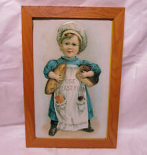 """Tin Sign """"I Use Yeast Foam"""" on Picture with Frame 13 x 19 x 1/2in - Baker"""