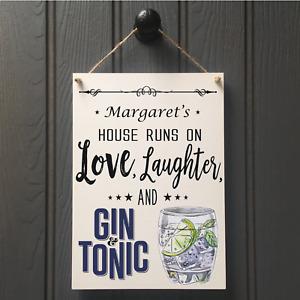 Fun Gin & Tonic Sign - New Home Home Bar Gin Sign - Friends Gift