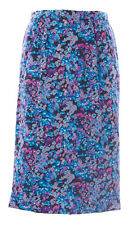 BODEN Women's Blue Multi Floral Silky Pencil Skirt WG542 $130 NWOT