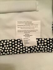Exc Cond Pottery Barn Teen Black Polka Dot Cordless Roman Shade - 32� x 64�