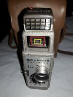 8mm Camera ~ Bell & Howell One Nine With Sunometer Heavy Duty Hand Held Vintage