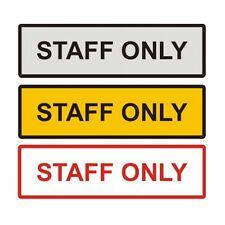 """Staff Only Metal Door Sign 6"""" x 2"""""""