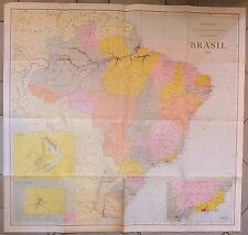 Carte Brésil 1968 Lithographie Fundaçao Ibge Instituto Brasileiro de Geografia