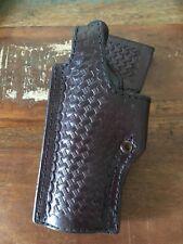Vintage Tex Shoemaker 45 HA Cordovan Brown Holster For Colt Commander Left