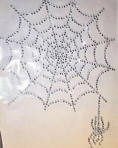 Spider Web Halloween Costume Diamante Hotfix Rhinestone Bling