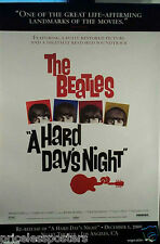 """The Beatles  ""A Hard Day's Night""  Original Re-release  Movie Poster - 2000"