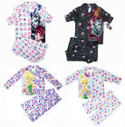 Kids Girls Monster High Tinkerbell Pyjamas Pajama Flannel Long Sleeve Tops Pants