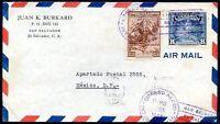 EL SALVADOR TO MEXICO Air Mail Cover 1942 VERY NICE!