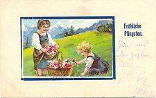 Pfingsten, Kinder pflücken Blumen, 1902