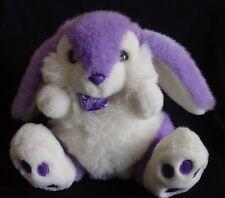 Easter Bunny Prettique Designs Purple Rabbit White Lavender Plush Sitting 1990's