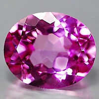 AAA Rated Oval Faceted Bright Pink Lab Created Sapphire (5x3mm-25x20mm)