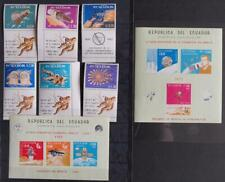 ECUADOR 1966 SPACE, VF MNH** Sheets + Set with Label, Astronauts, Moon Travel