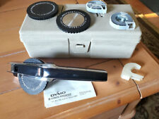 Vintage Dymo 1570 Label Maker With Case 3 Reels Amp 3 Rolls Tape Chrome Finish