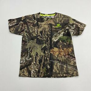 Mossy Oak Shirt Youth Large Green Gray Brown Short Sleeve Camouflage Hunting